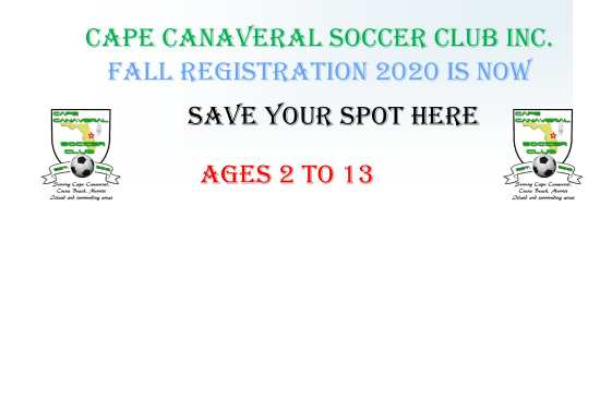 2020 Fall Registration is now open. Check out our coaches discount